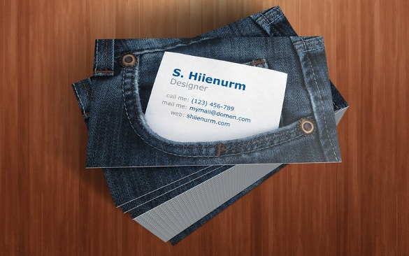 jeans business cards download
