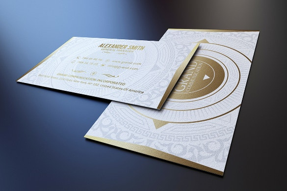 gold and white business card download