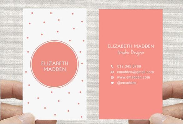 polka dot business cards download