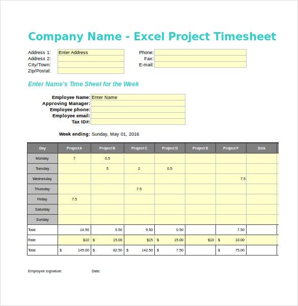 Payroll Timesheet Template  BesikEightyCo
