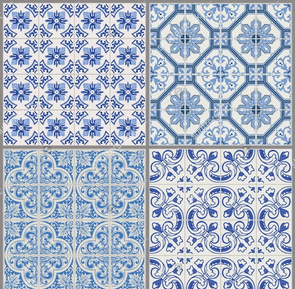 light blue colored tile pattern