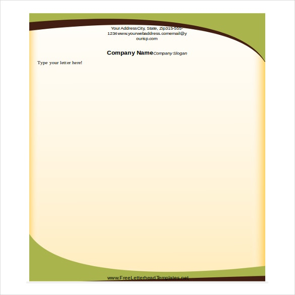 Awesome Sophisticated Green Letterhead Template Free Word 2010 For Free Word Templates 2010
