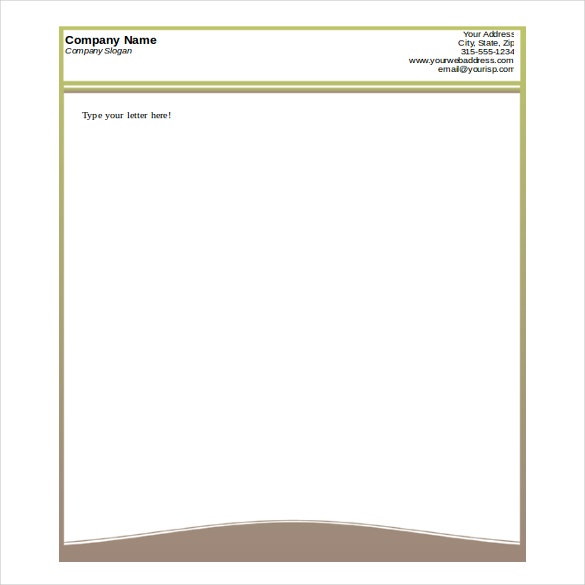 Letterhead Sample Word  Free Personal Letterhead Templates Word