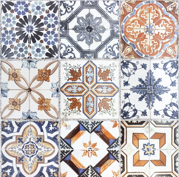bundle of 9 tile patterns for download