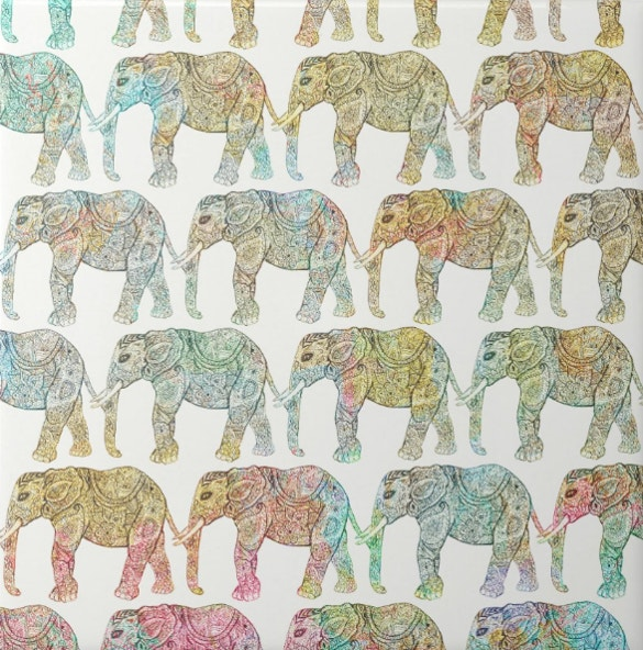 elephant picture tile pattern for download