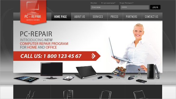 28 computer repair website themes templates free premium computer repair program service template friedricerecipe gallery