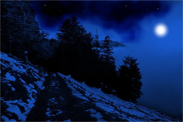 amazing blue night background