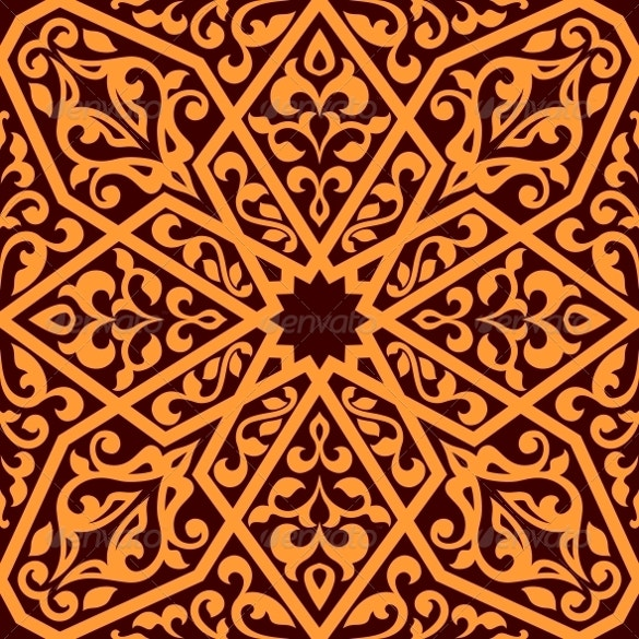 arabian style tile pattern for download
