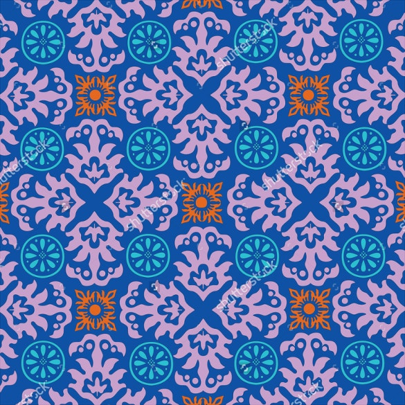 ornamental style tile pattern