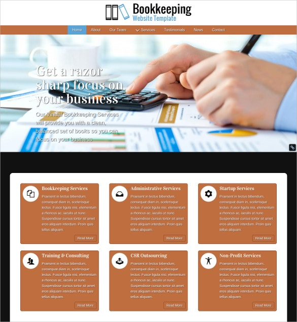 27+ Accounting Website Themes & Templates | Free & Premium Templates