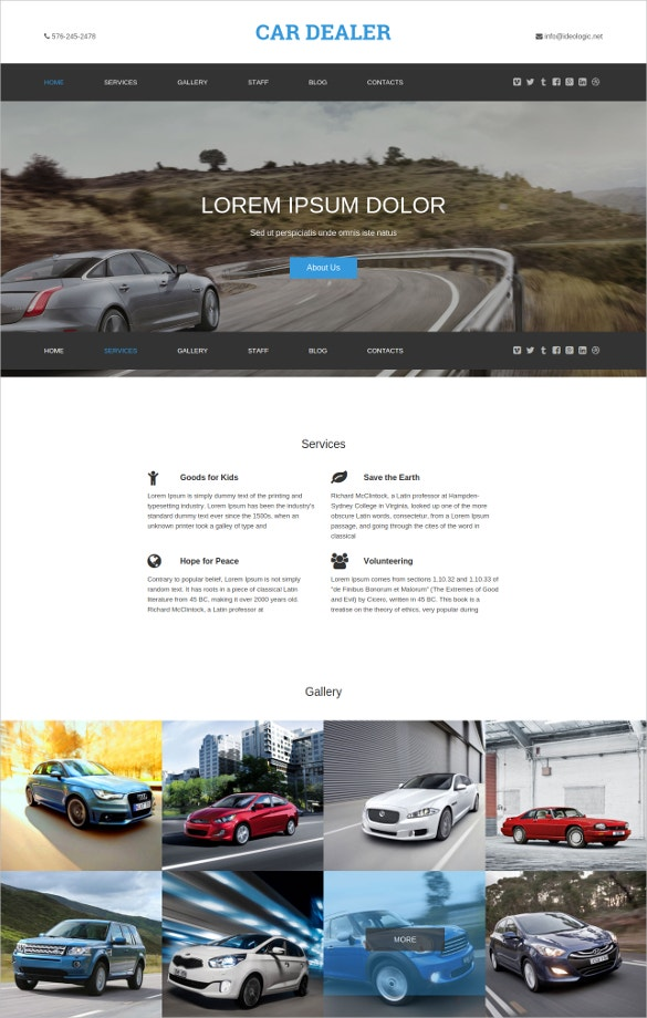 28 car dealer website themes templates free premium templates car dealer responsive one page theme maxwellsz