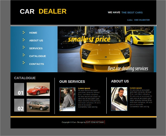 car dealer free css website template