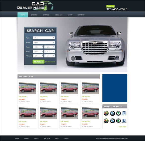 proffesional car dealer website template