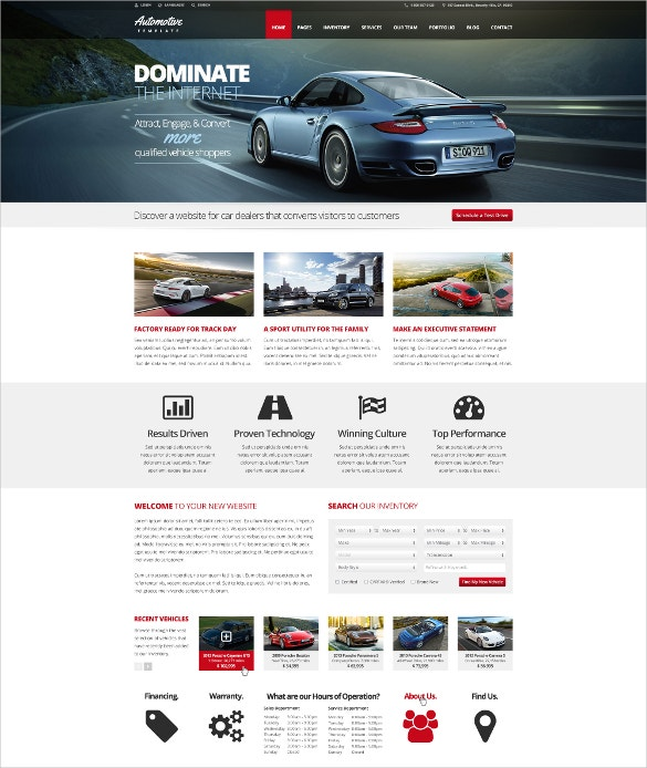 automotive car dealership html template