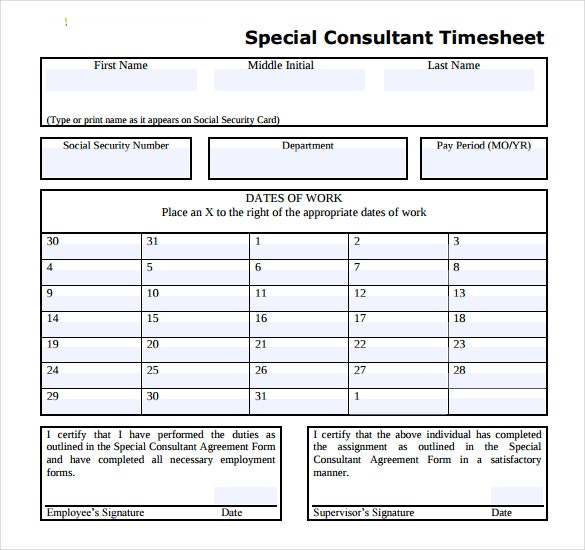 Sample Excel Timesheet Daily Timesheet Template Excel Free Download