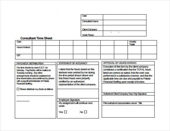 consultant timesheet template download in pdf format