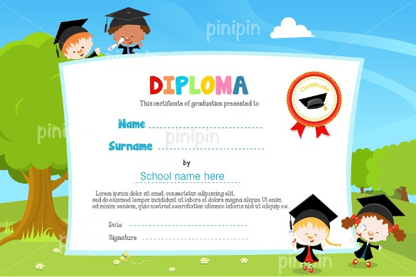 course completion certificate premium download
