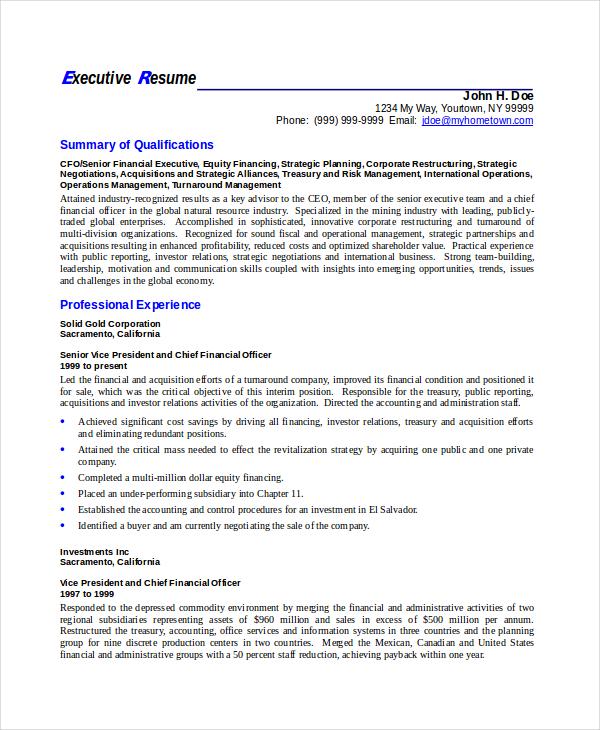 Executive-Resume-Templat