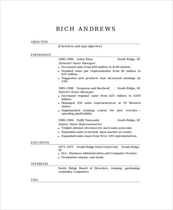 basic elegant resume