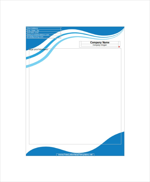12 Letterhead Templates Free Sample Example Format – Business Letter Heading Template