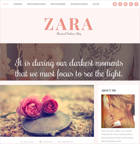 wordpress website theme for fashion bloggers 35