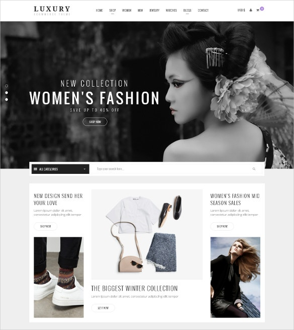 responsive virtuemart clothing website theme 48