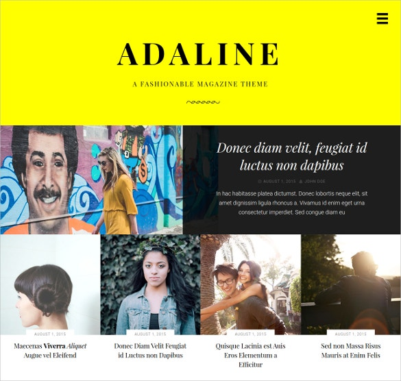 Fashionable Magazine Website Theme $99