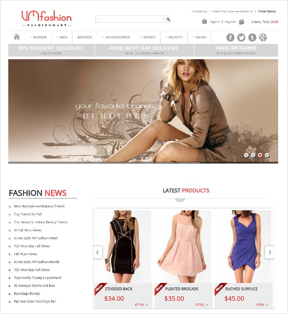 Joomla Fashion Virtuemart Website Template