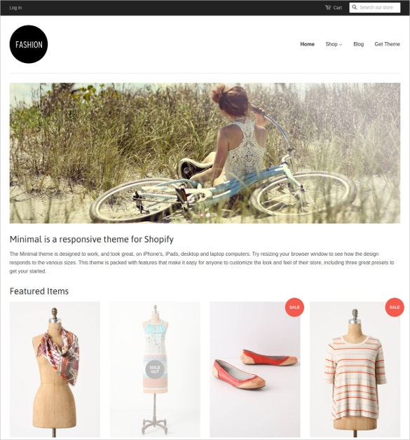 free minimal fashion website theme