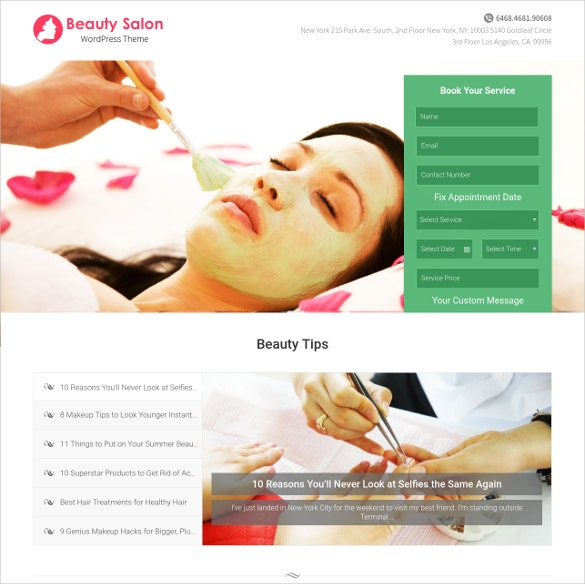 fashion beauty salon website theme 79