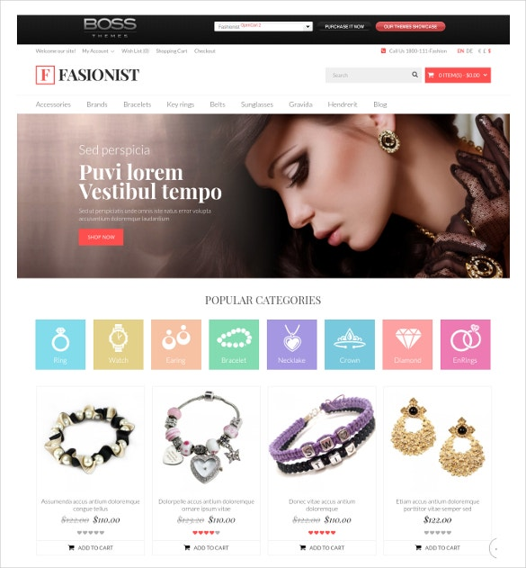 Fashionist Responsive OpenCart Website Theme $69