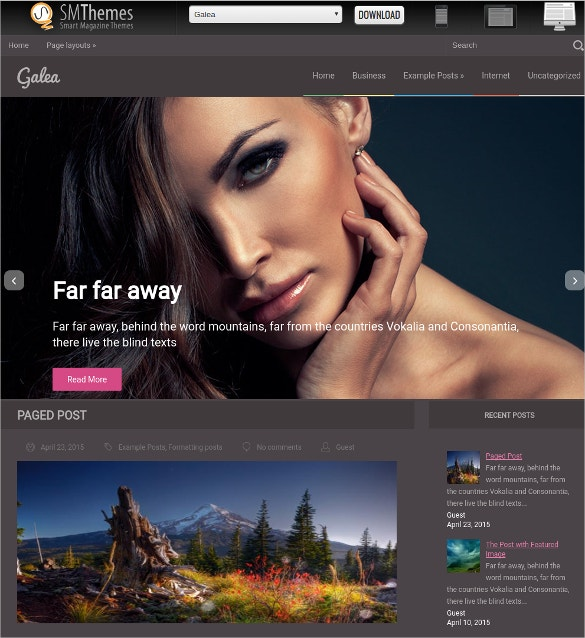 free fashion technology wordpress website theme