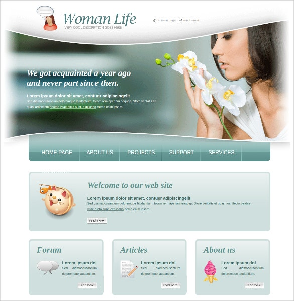 model women fashion html website theme