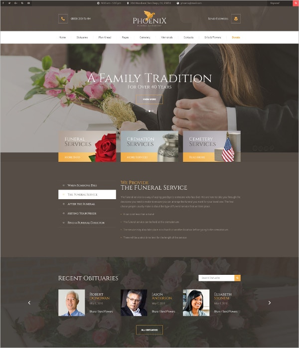 Traditional Cemetery PSD Drupal Template.