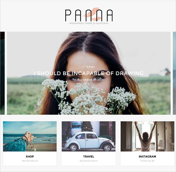 Fashion Life Style Blog & Shop WordPress Website Theme $45