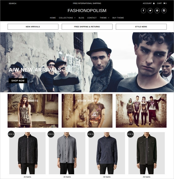 fashion ecommerce website theme