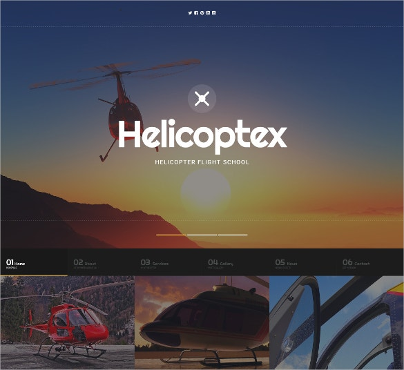 Helicopter School Website Template $69