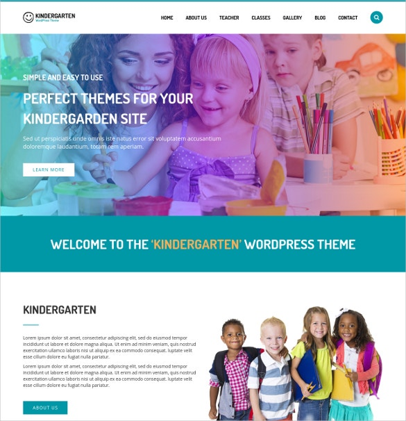 WordPress Website Theme For Children School $49