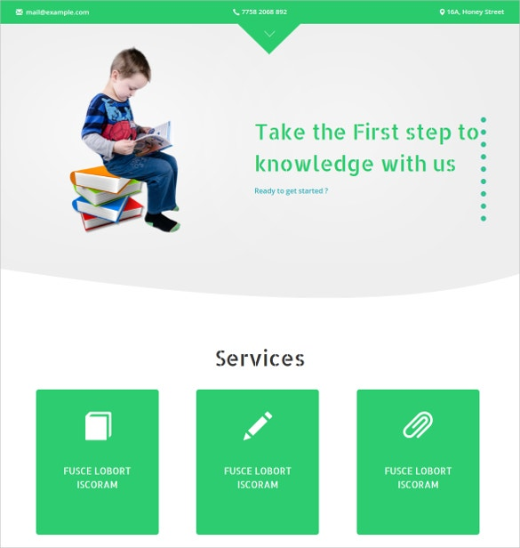 School Tuition Bootstrap Responsive Website Template