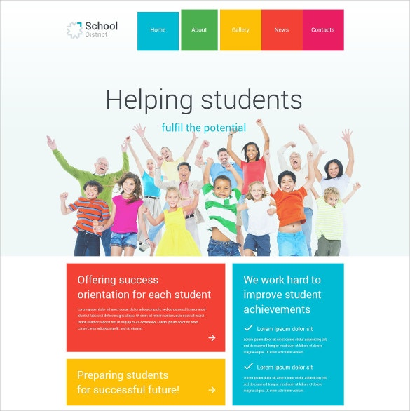 School District Joomla Website Template $75