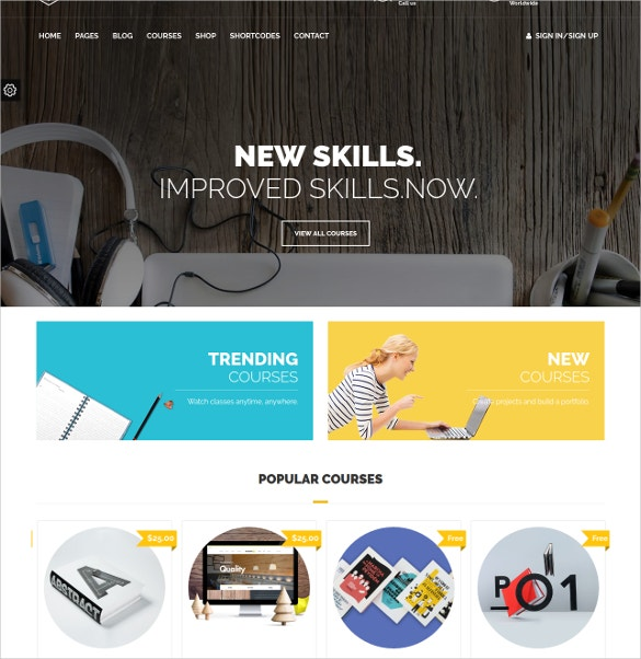 School Education Courses WordPress Website Theme $59