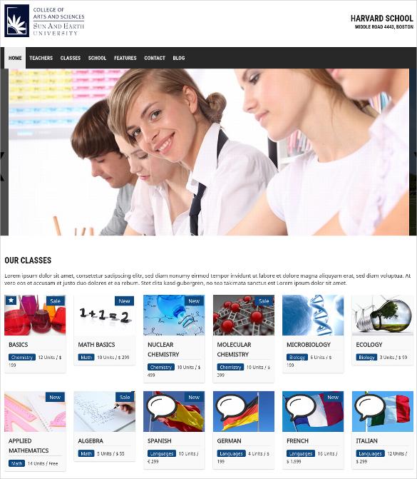 College WordPress School Website Theme $69