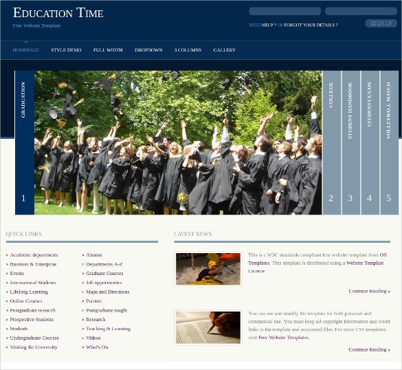School Education Time Free CSS Website Theme