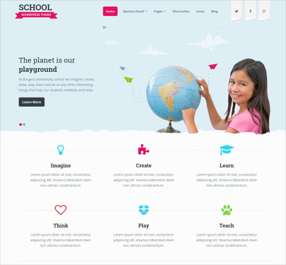 Perfect Theme For Schools Website Template $59