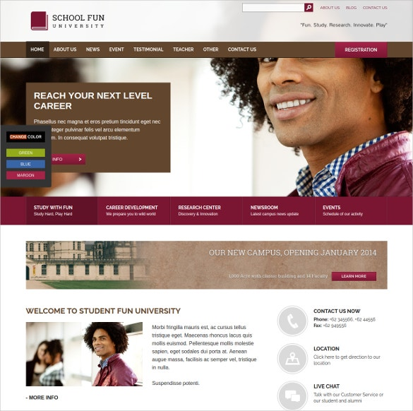 WordPress website Theme For School & Educational Institutions