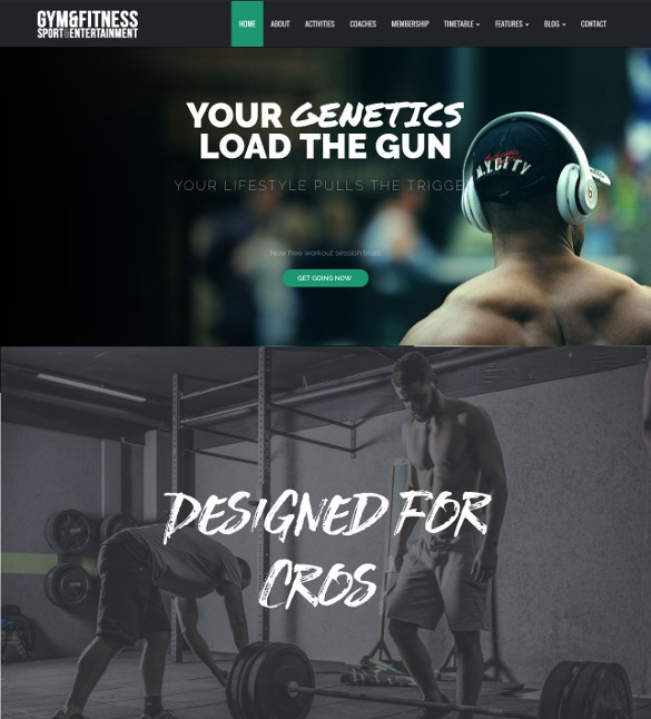 Gym Sports & Fitness WordPress Website Theme $39