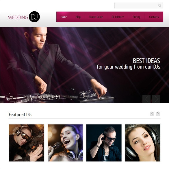 best dj drupal website template 75