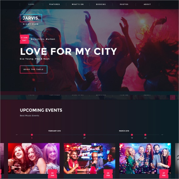 night club dj wordpress website theme 49