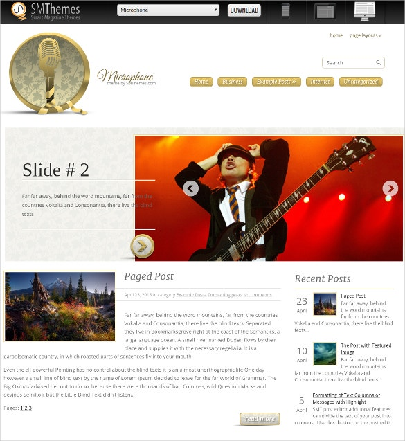 free design music dj wordpress website theme