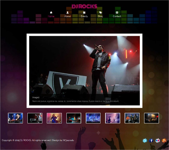 Bootstrap DJ Rocking Website Template